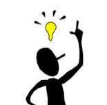 Stick Figure With Idea Light Bulb