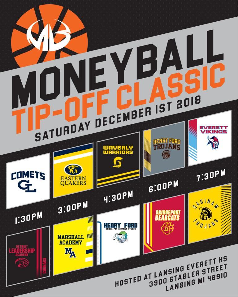 Moneyball Tip-Off Classic HS Basketball Showcase Moneyball Sportswear