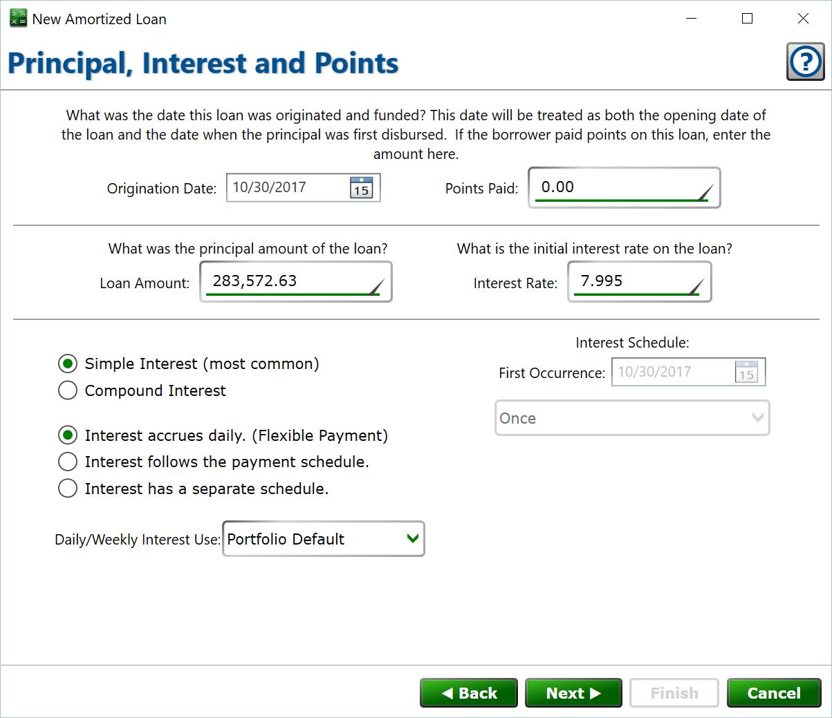simple interest amortized calculator