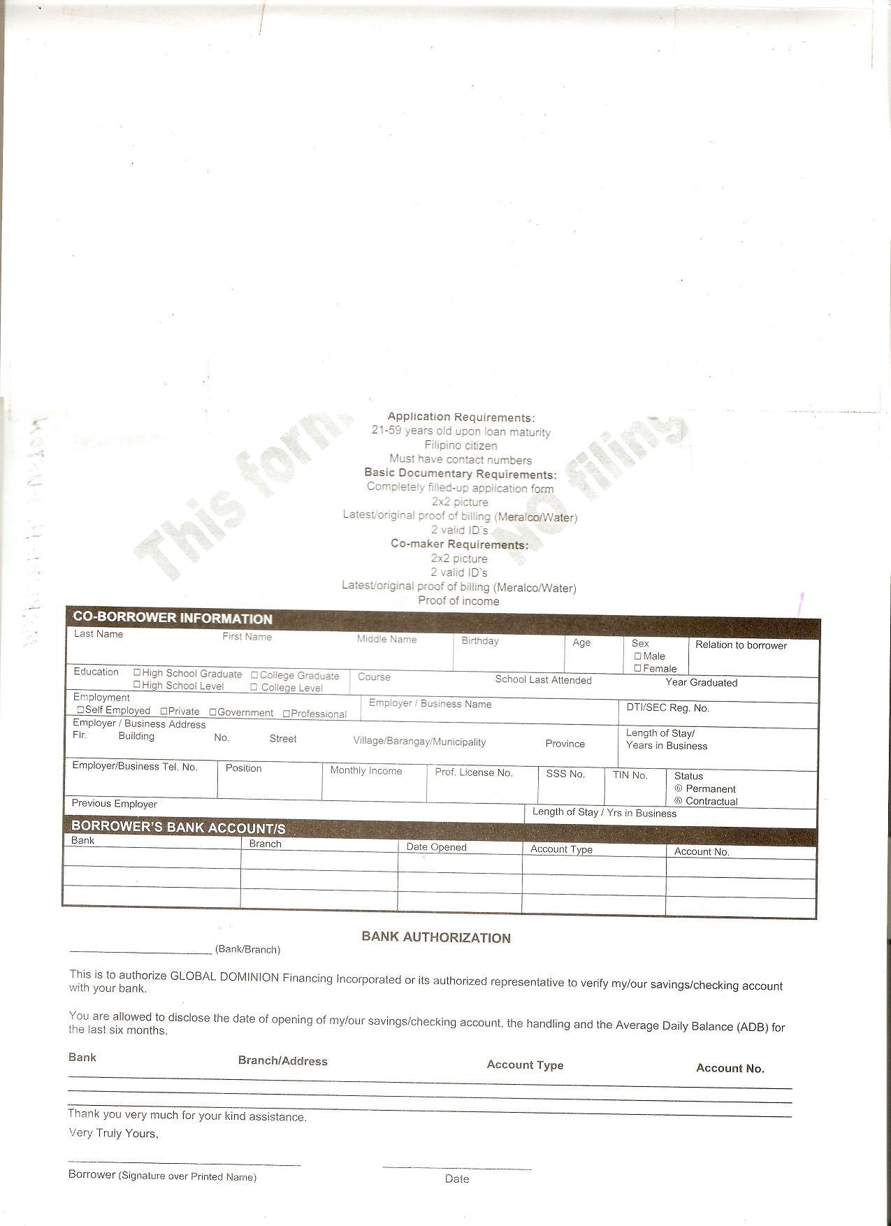 Sample Lending Agreement Form – Export Agreement Sample