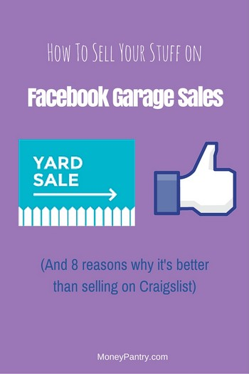 Facebook Yard Sales How to Sell Your Stuff the Easy Way - MoneyPantry