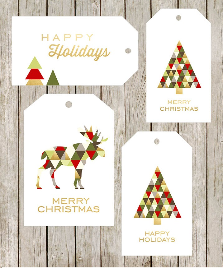 47 Free Printable Christmas Gift Tags (That You Can Edit and