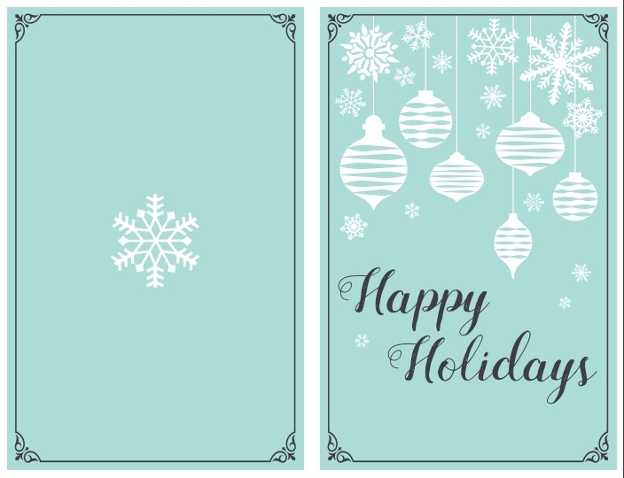 47 Free Printable Christmas Card Templates (You Can Even Make Photo - free images happy holidays