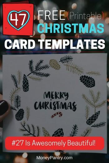 47 Free Printable Christmas Card Templates (You Can Even Make Photo - printable christmas card templates