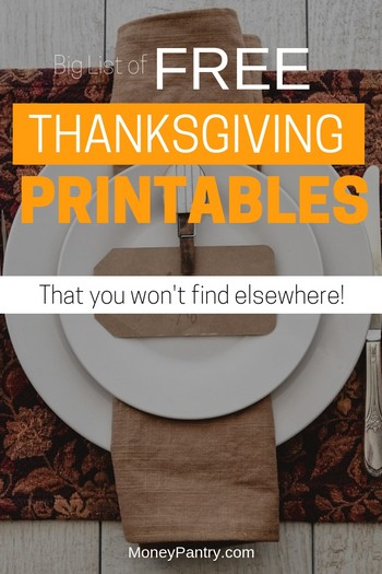 110 Best Free Thanksgiving Printables (Cards, Decorations, Games