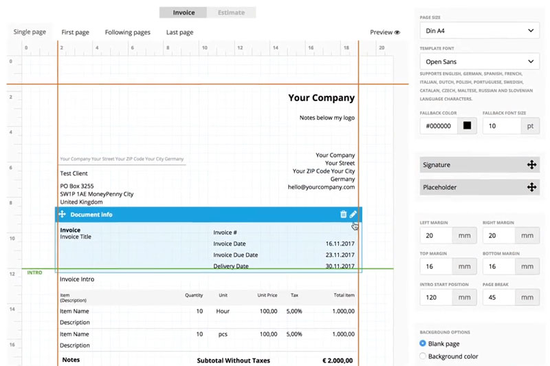 Invoice Creator 40 \u2014 Custom Made, Professional Invoices \u2013 MoneyPenny - custom invoice maker