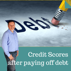 Credit scores after paying off debt