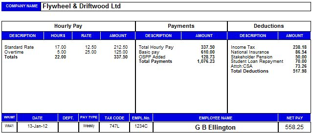 Payroll Manager Software Employee Payslips Selection - Payroll Payslip Template