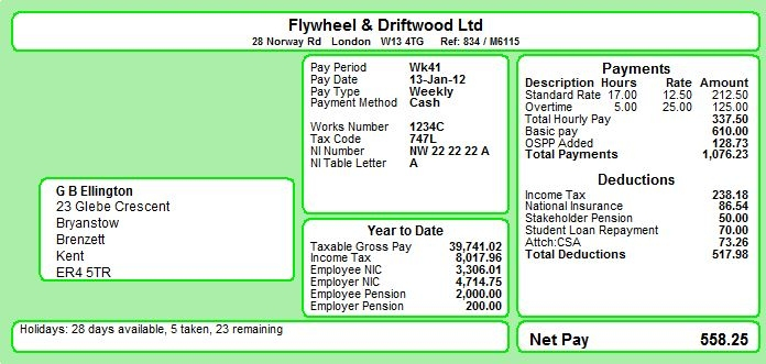 Wage Slip Template Of Wage Slip Template Free Demo Graphicweave Com - Payroll Payslip Template