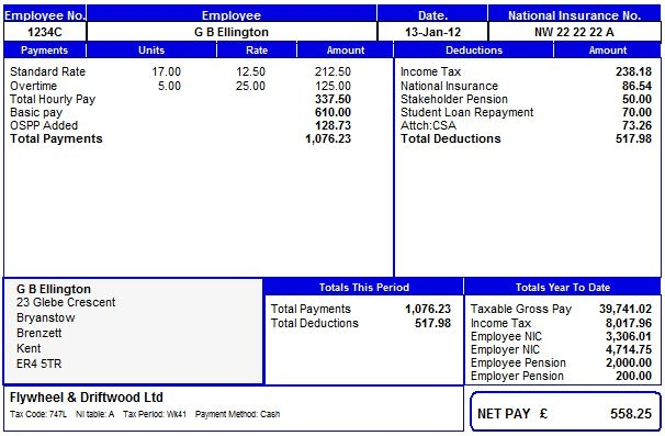Payroll Manager Software Employee Payslips Selection - pay slip templates