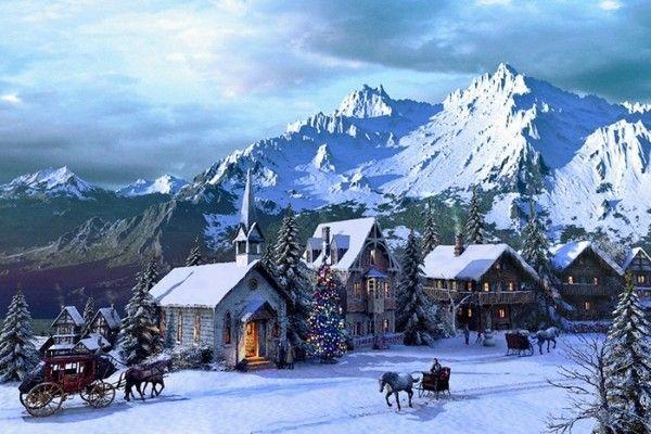 3d Snowy Cottage Animated Wallpaper Windows 7 Saison Hiver Page 3