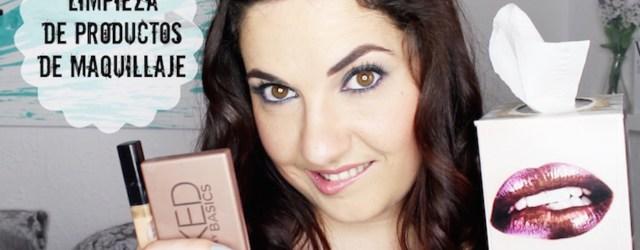 limpiar productos maquillaje