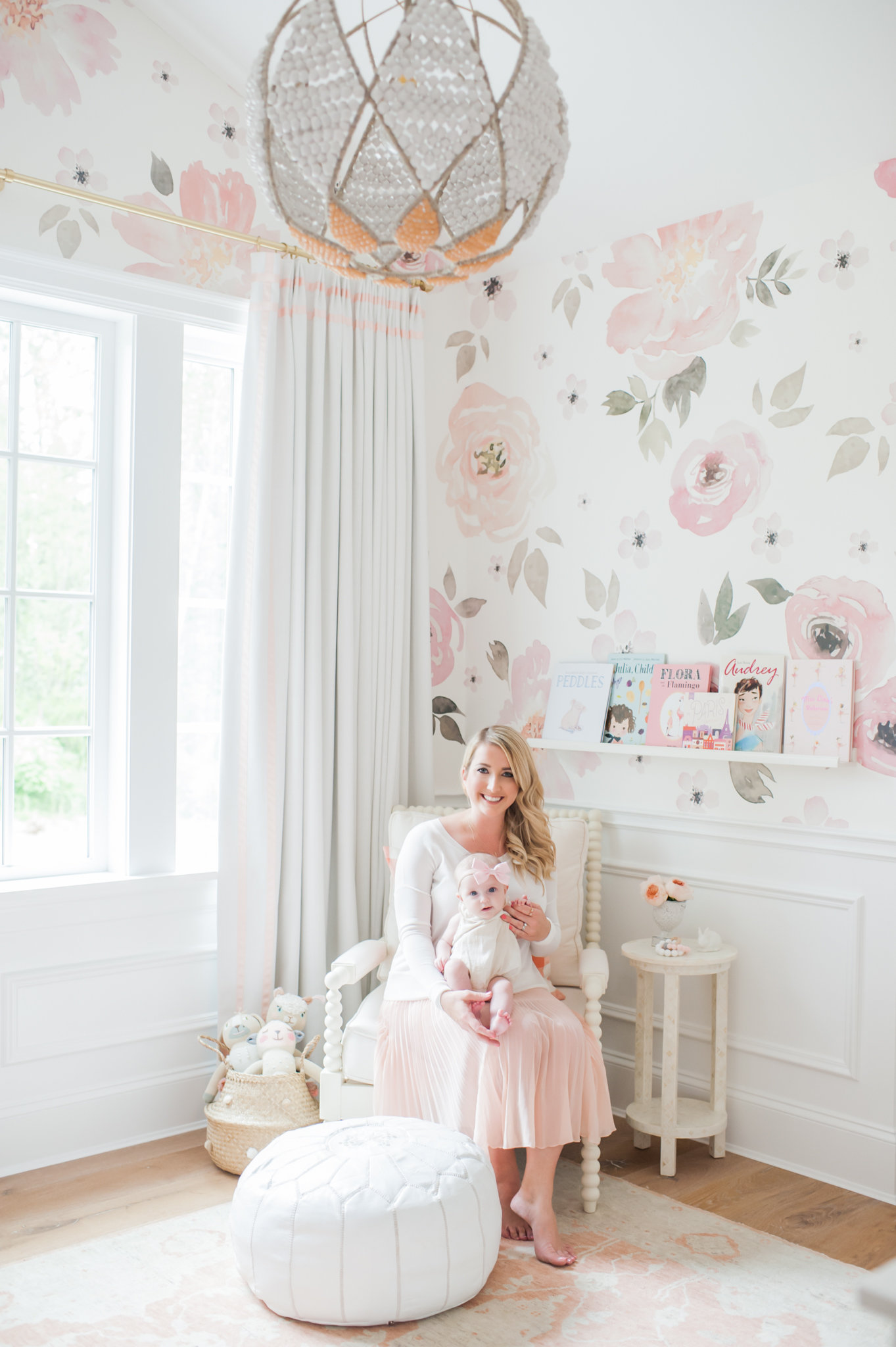 Baby Girl Nursery Wallpaper Uk Lillya S Nursery Amp Giveaway Monika Hibbs