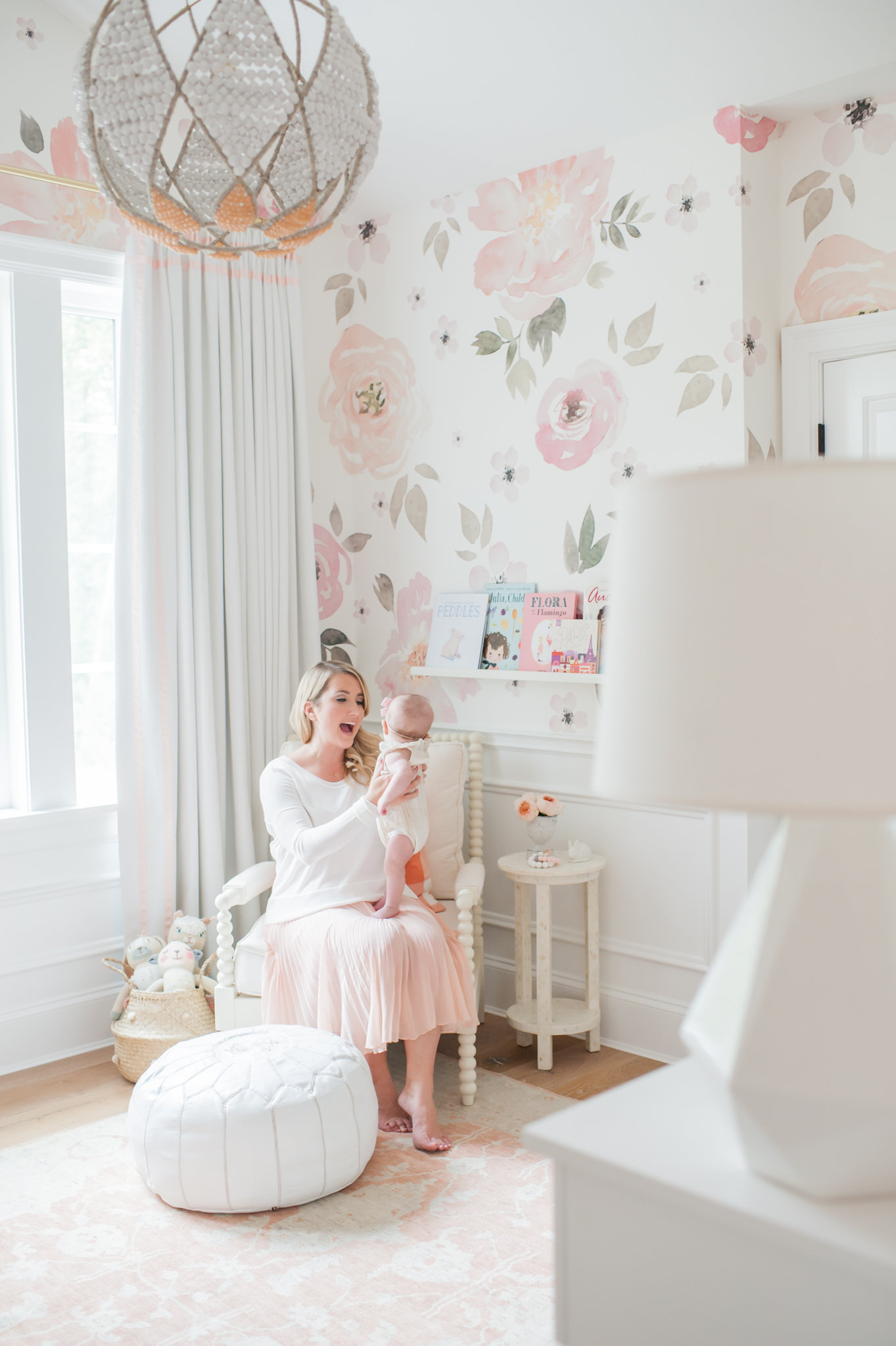 Wallpaper Ideas For Baby Girl Nursery Lillya S Nursery Amp Giveaway Monika Hibbs