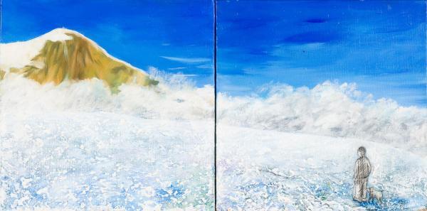 Monika Ruiz Art - Jay & Boo in the Ruiz's Ice Mountain