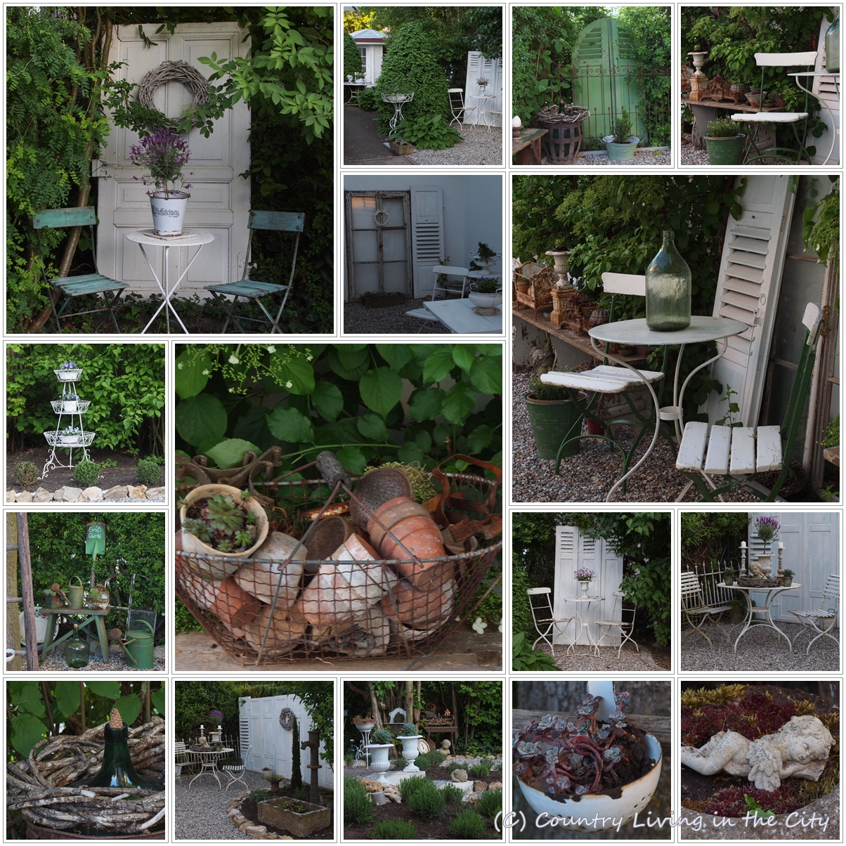 Shabby Garten White And Shabby Country Living In The City