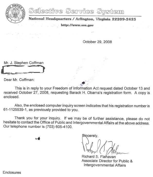 2) Obama\u0027s Forged Selective Service Registration Document Obama\u0027s