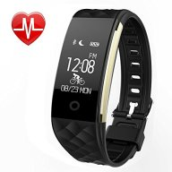 Fitness Tracker, MJFOX Heart Rate Monitor Smart Bracelet Wireless Bluetooth IP67 Waterproof Band Wristband Watch with Health Sleep Activity Tracker Pedometer for iPhone Samsung iOS Android Phone-BLK