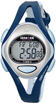 Timex Women's T5K451 Ironman Sleek 50-Lap Blue Resin Strap Watch