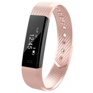 Smart Fitness Tracker, 11TT YG3 Sports Fitness Bracelet Wristband Pedometer Running Tracker with Step Tracker/Calorie Counter/Sleep Monitor/Call Notification Push for Apple and Android Phone (Pink)