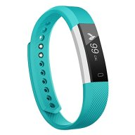 Fitness Tracker, MoreFit Slim Touch Screen Activity Health Tracker Wearable Pedometer Smart Wristband, Silver/Green