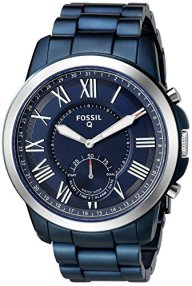 Fossil Q Hybrid Smartwatch Men's Grant Ocean Blue Stainless Steel FTW1140