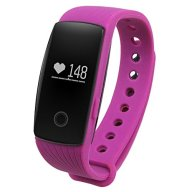 GBlife Sports Smart Bracelet with Heart Rate Monitor Remote Camera Fitness Tracker Watch (Purple)