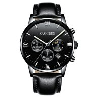 KASHIDUN Men's Casual New Wrist Watches Classic Quartz Watch Swiss Luxury Watches-Black.ZH-QHP