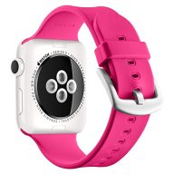 Apple Watch Sport Band 38mm, UMTELE Soft Silicone Replacement iWatch Bands Sport Strap with Buckle Clasp for Apple Watch Sport, Series 2, Series 1, Fuchsia