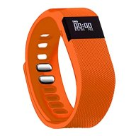 Fitness Tracker,Teslasz Bluetooth 4.0 Sleep Monitor Calorie Counter Pedometer Sport Activity Tracker for Android and IOS Smart Phone (Orange)