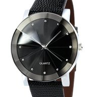 Men Luxury Quartz Sport Watch Ninasill Convex Surface Watch Leather Watch