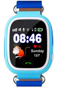Kids Bluetooth Smart Watch GPS Anti-lost Remote Wrist Watches For Boys Blue