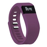 Fitness Tracker,Teslasz Bluetooth 4.0 Sleep Monitor Calorie Counter Pedometer Sport Activity Tracker for Android and IOS Smart Phone (Purple)