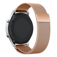 VOCOOL Watchband Milanese Loop Stainless Steel Smart Watch Strap Universal Bracelet Width 22mm Fully Magnetic Closure Bands for Women and Men (22, Rosegold)