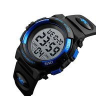 Men's Digital Sport Watch Waterproof Led Electronic Military Wrist Watch with Alarm Stopwatch Calendar Date Window – Blue