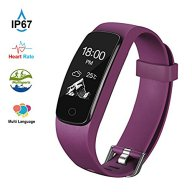 Fitness Tracker HR Aneken Activity Tracker with Heart Rate Monitor IP67 Waterproof Bluetooth Smart Bracelet with Pedometer Sleep Monitor Step Counter Watch for Android iOS Smartphone, Purple