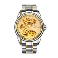 Men's Automatic Watch Gold Plated Luxury Dress Mechanical Watch Wrist Watches for Men