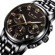 Watch,Men's Fashion Luxury Chronograph Sports Watches,Waterproof Analog Quartz Wrist Watch for Man Steel