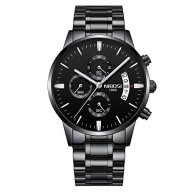 Men's Luxury Fashion Waterproof Wrist Analog Quartz Watch with Leather Strap Waterproof Date Display wrist watch Fashion Sports Military Army with gift box for birthday Christmas