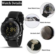 Smart Watch,Sports Watch Active Monitoring Burned calory Monitoring Stopwatch walking steps Tracking Bluetooth 4.0 Watch for iPhone iOS 6.0 and Android Version 4.3 Above System MobilePhone APP (black)