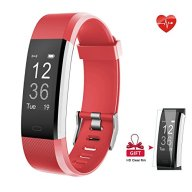 Fitness Tracker, AIEX Heart Rate Monitor Smart Watch With Connected GPS Tracker, 14 Sports Mode, Message Notification,Waterproof Activity Tracker for Android and iOS with Gift Screen Protector (Red)