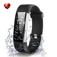 Fitness Tracker- Waterproof Activity Tracker Heart Rate Monitors Sleep Tracking Wireless Bluetooth Activity Tracker Smart Bracelet Pedometer Fitness Sports Wristbands (black)