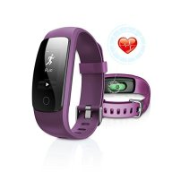 Fitness Tracker with Heart Rate Monitor, DBFIT Activity Tracker Smart Watch with Sleep Monitor, IP67 Water Resistant Walking Pedometer Band with Call/SMS Remind for iOS/Android Smartphone (Purple)