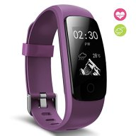 Fitness Tracker, moreFit Slim Touch HR Heart Rate Waterproof Activity Tracker Wireless Bluetooth Smart Bracelet Watch Sleep Monitor Pedometer, Purple