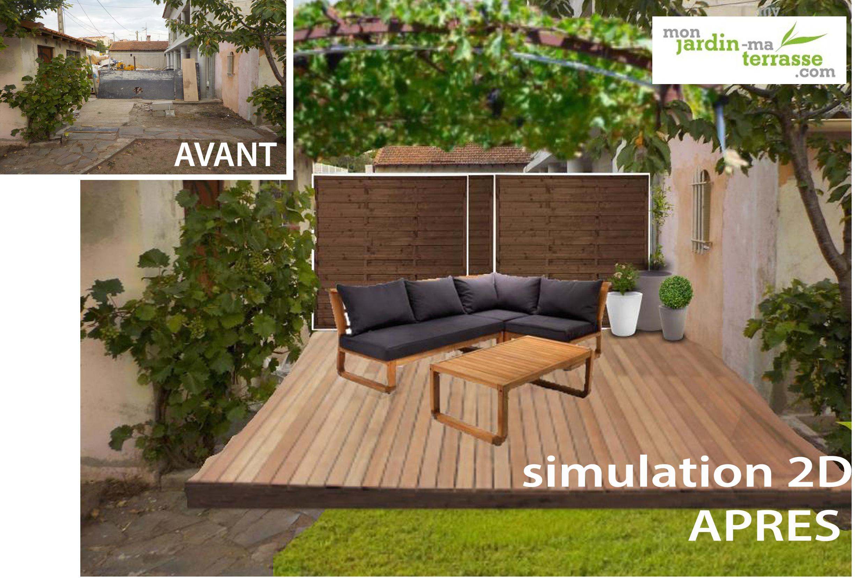 Amenager Terrasse Dans Jardin | Aménager Un Jardin En Terrasses ...