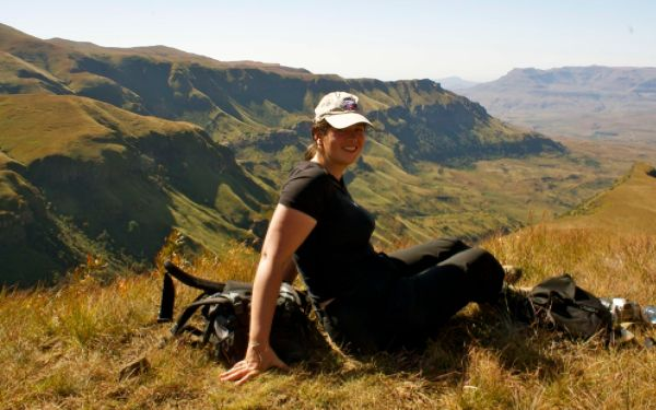 Me at Drakesnberg Mountains, South Africa