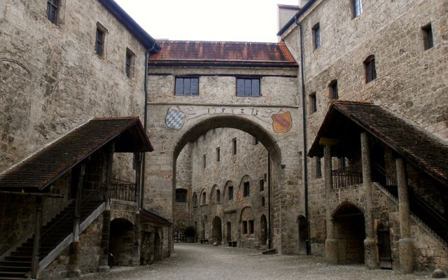 Inner courtyard of Burghausen Castle