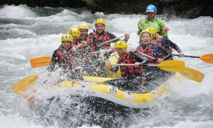 white water on the Noguera Pallaresa River, but still having a blast.