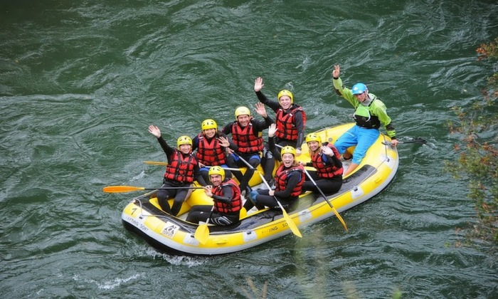 Starting off our rafting voyage