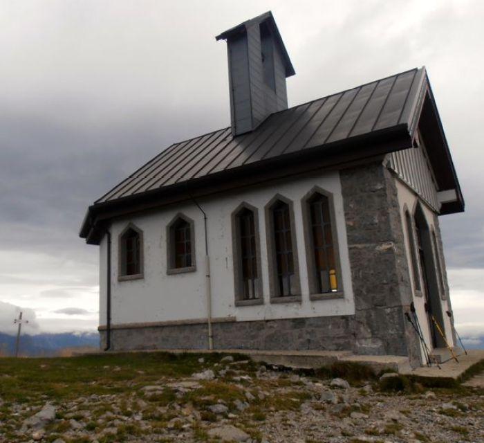 Small chapel at top of Mt. Matajur